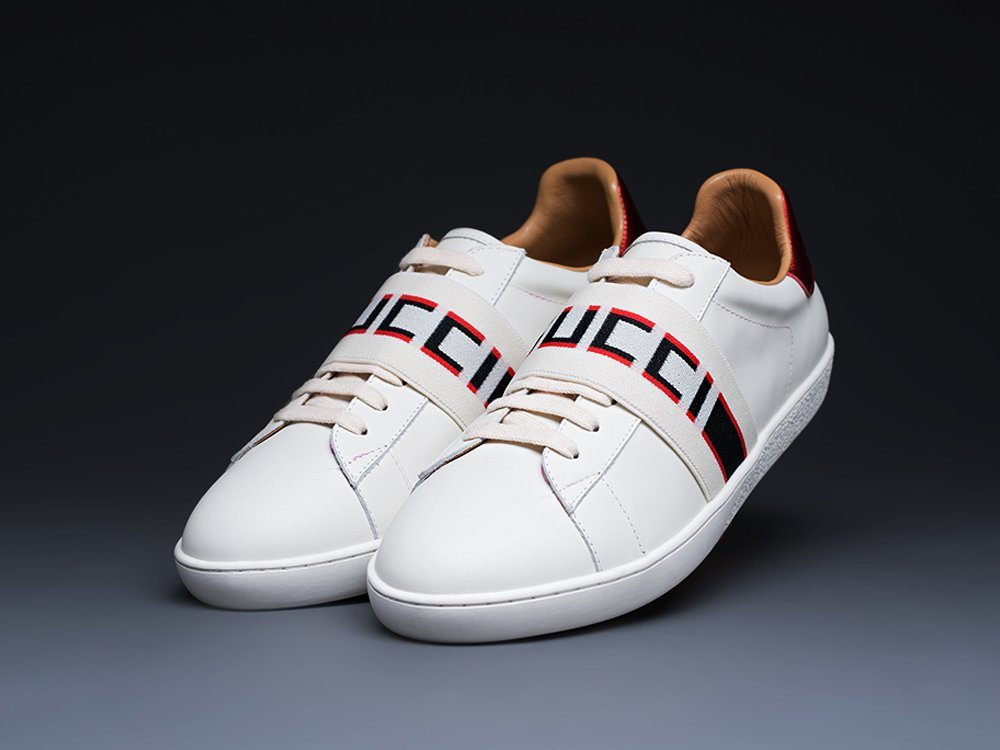 Кроссовки Gucci Stripe Leather